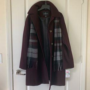 London Fog Burgundy Coat